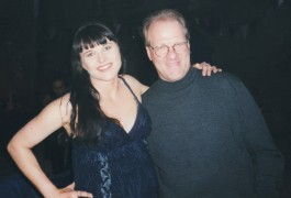 "On the ""Xena"" set in New Zealand w/ Lucy Lawless"