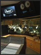 Nic. conducting Big Band @ Capitol Studios session